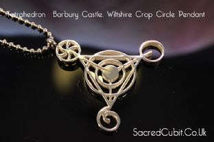 Fourth Dimensional Barbury Castle Crop Circle Sacred Geometric Symbol Pendant
